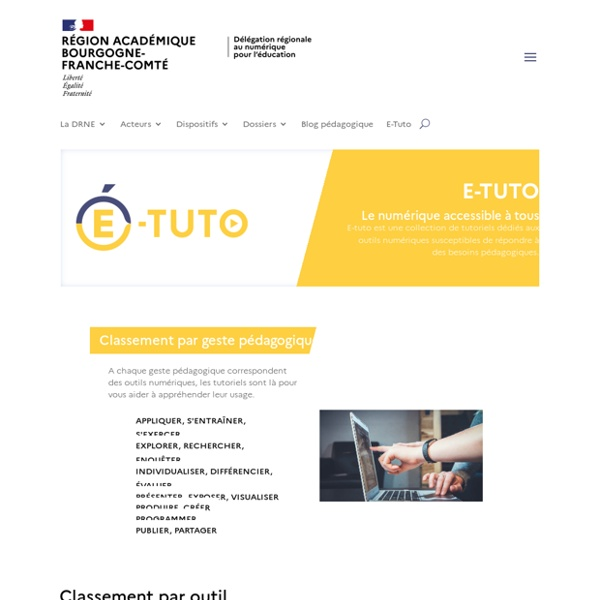 DRNE - Délégation Régionale du Numérique pour l'Éducation