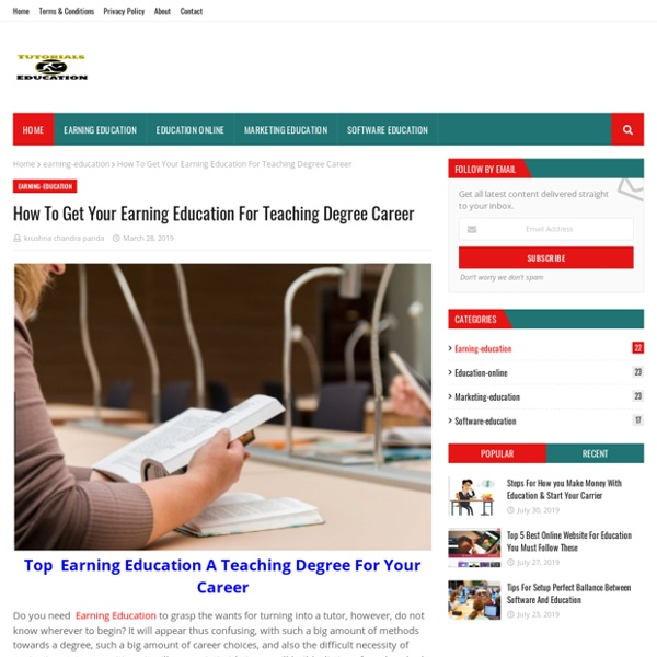 How To Get Your Earning Education For Teaching Degree Career