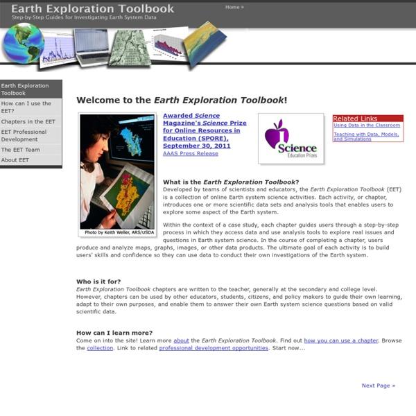 Earth Exploration Toolbook
