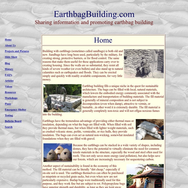 Earthbag Building Index