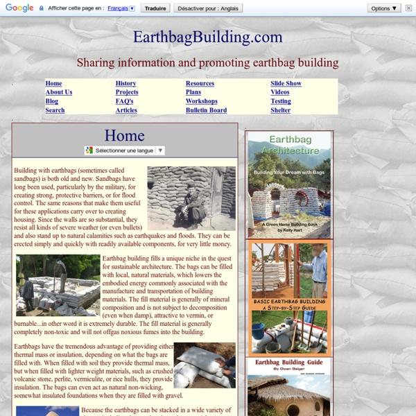 Earthbag Building Index