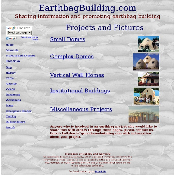 Earthbag Building Projects