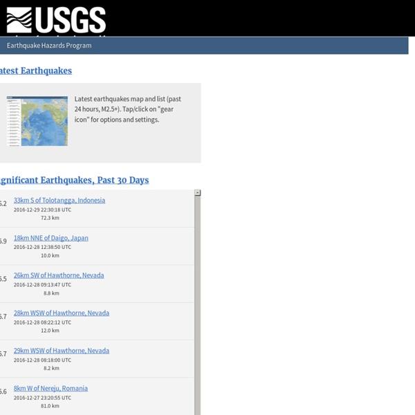 U.S. Geological Survey Earthquake Hazards Program