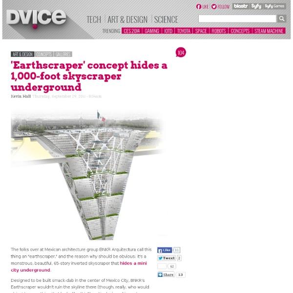 Earthscraper concept hides a 1,000-foot skyscraper underground