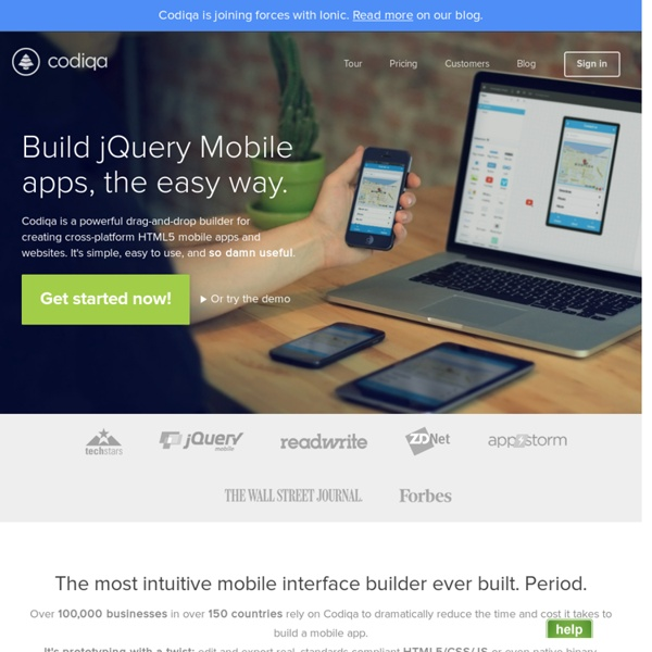 The Easiest Mobile Development Tool - Codiqa