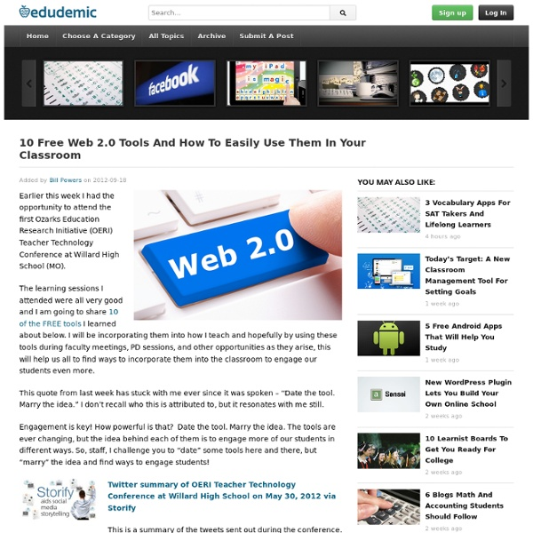 10 Free Web 2.0 Tools And How To Easily Use Them In Your Classroom