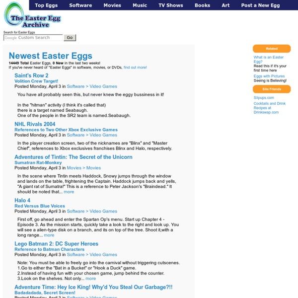 Easter Eggs - Eeggs.com