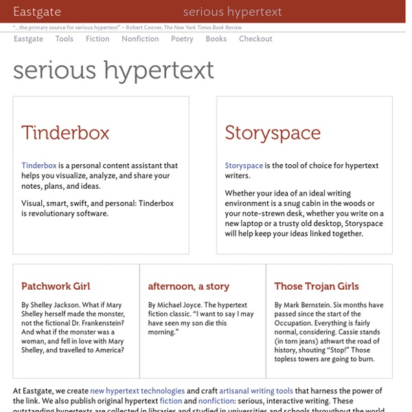 Eastgate: serious hypertext