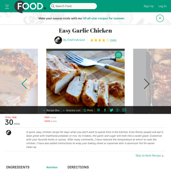 Easy Garlic Chicken Recipe - Food.com - 5478
