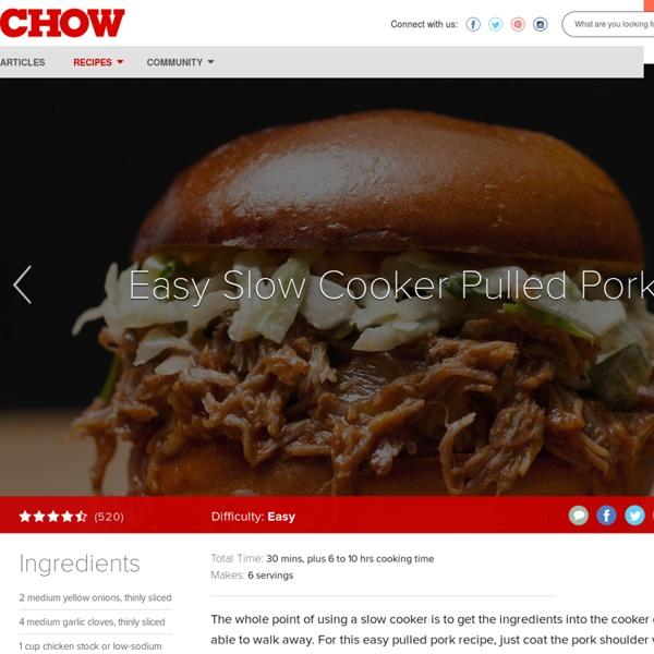 Easy Slow Cooker Pulled Pork Recipe