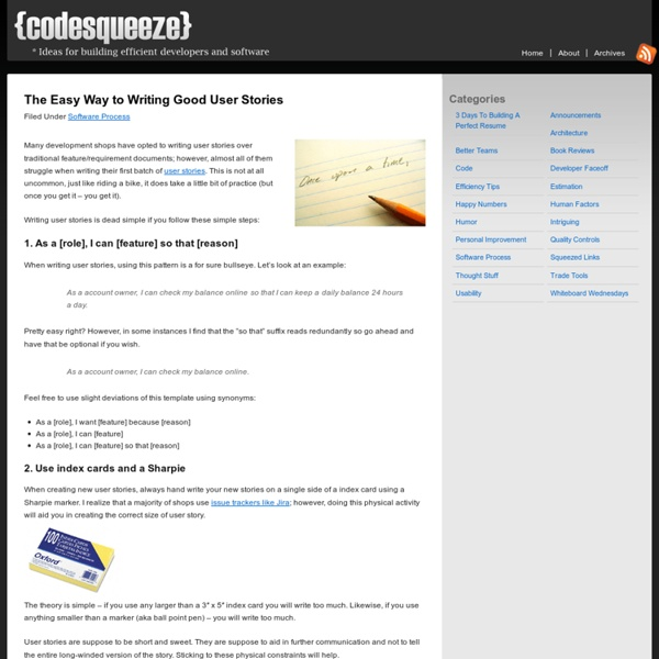 The Easy Way to Writing Good User Stories