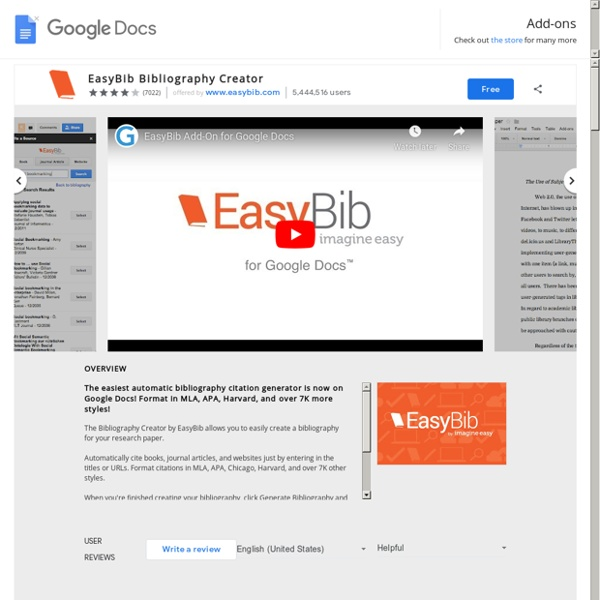 EasyBib Bibliography Creator - Google Docs add-on