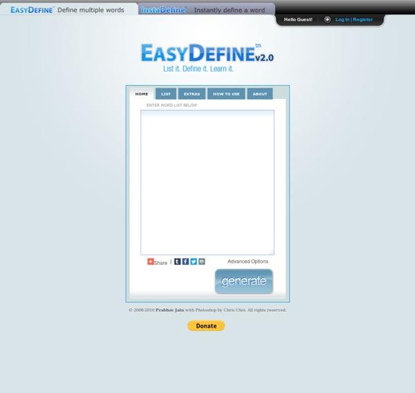 EasyDefine - Define multiple words quickly