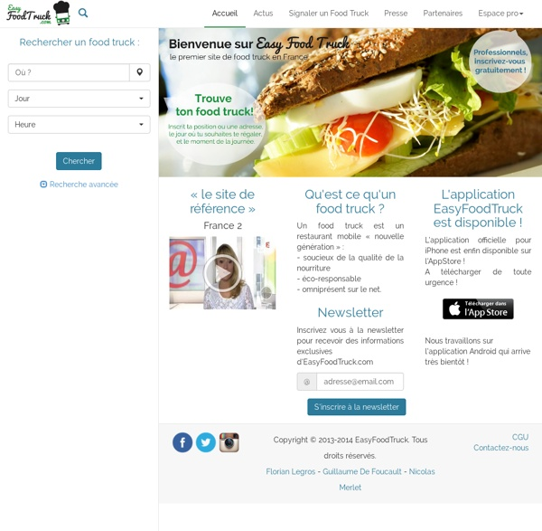 EasyFoodTruck.com - Accueil