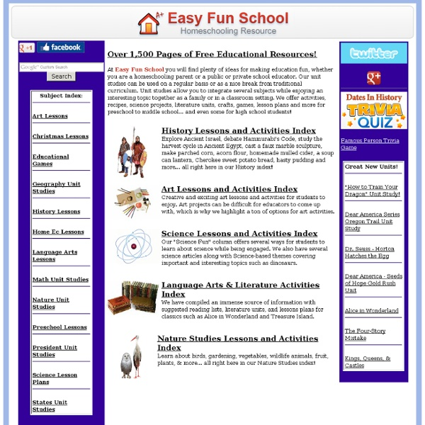 EasyFunSchool - home school curriculum, lesson plans, unit studies ...