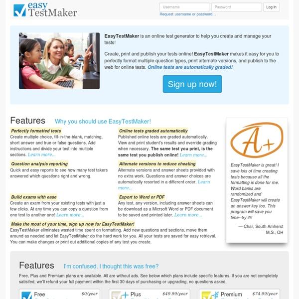 EasyTestMaker | Pearltrees
