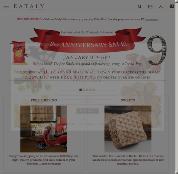 Gourmet Italian Food, Gift Baskets, Pastas, Sauces and more from Eataly