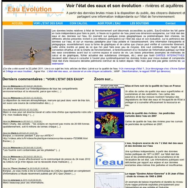 Eau-Evolution: Accueil