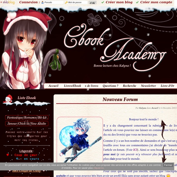 Ebook Academy - Chez Kalyna ! Partage d'Ebook ePub