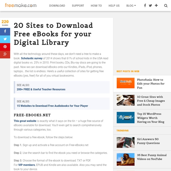 Best 20 Sites to Download eBooks