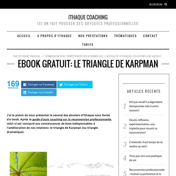 Ebook gratuit: le triangle de Karpman