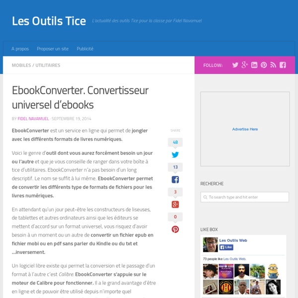 EbookConverter. Convertisseur universel d'ebooks