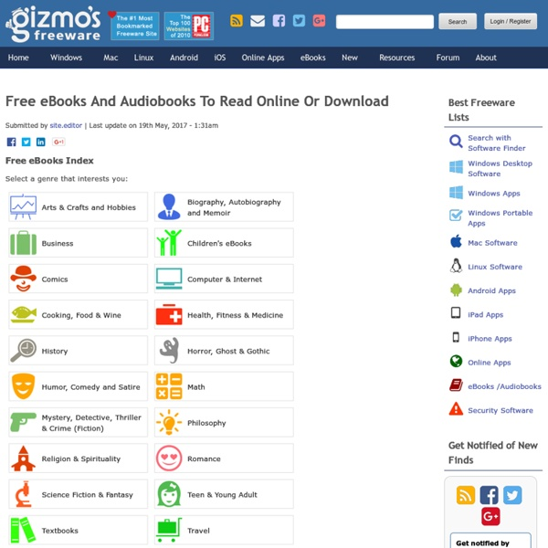Free eBooks And Audiobooks To Read Online Or Download