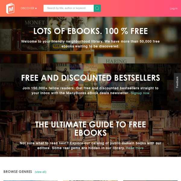 ManyBooks.net - Free eBooks for your iPad, smartphone, or eBook reader