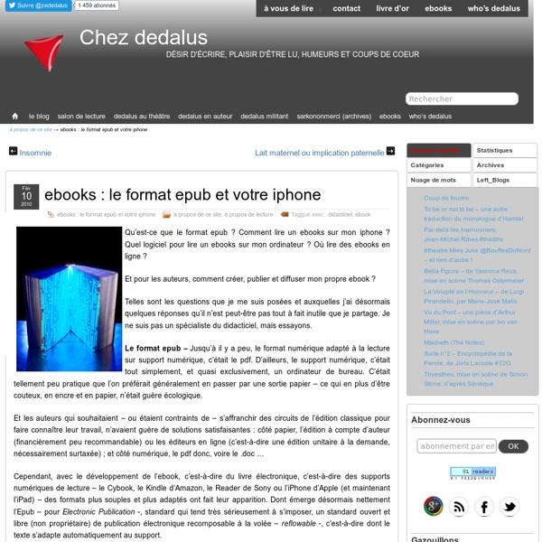 Ebooks : le format epub et votre iphone