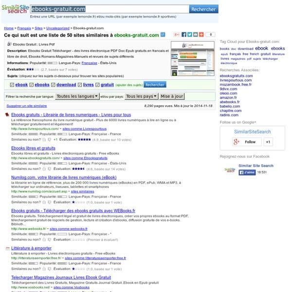 Ebooks-gratuit.com Sites Similaires