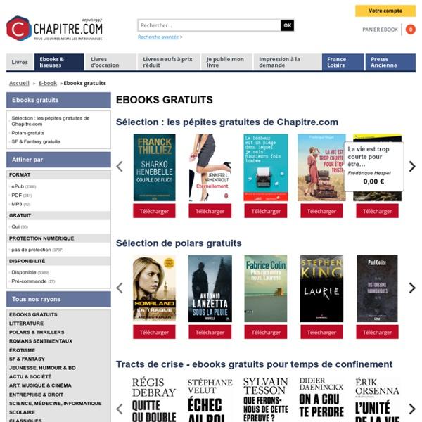 Sélection e-books gratuits - chapitre.com