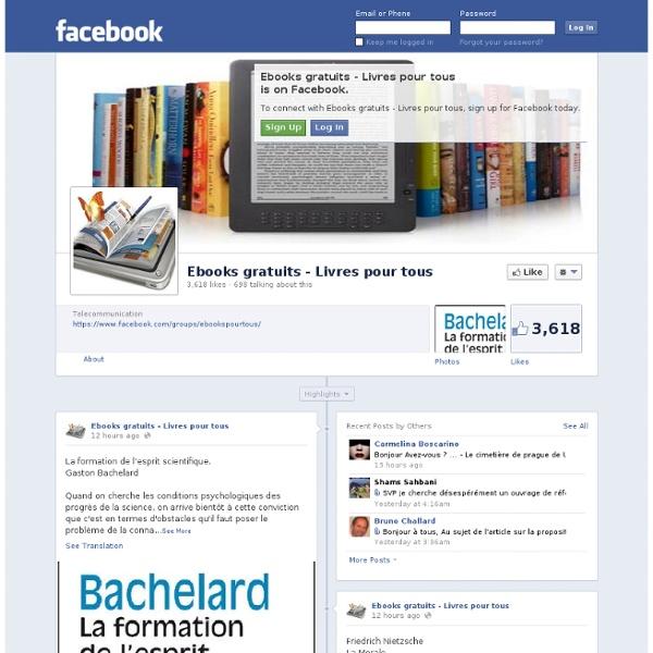 Ebooks gratuits - Livres pour tous