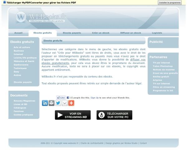 Ebooks gratuits - Télécharger des ebooks gratuits en ligne