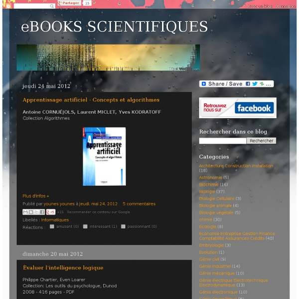 eBOOKS SCIENTIFIQUES
