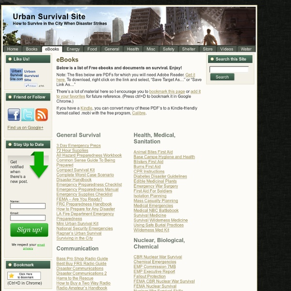EBooks - Urban Survival Site | Pearltrees