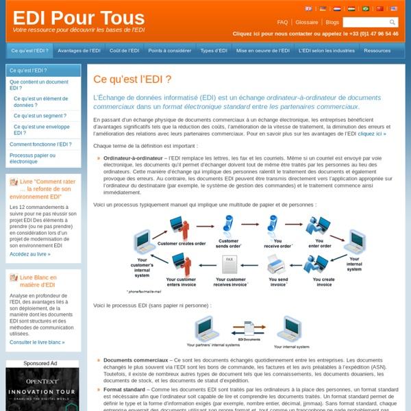 Ce qu'est EDI (Échange de données informatisé)?