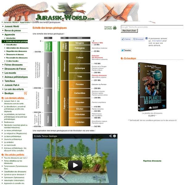 Echelle des temps géologiques - La Terre des dinosaures !