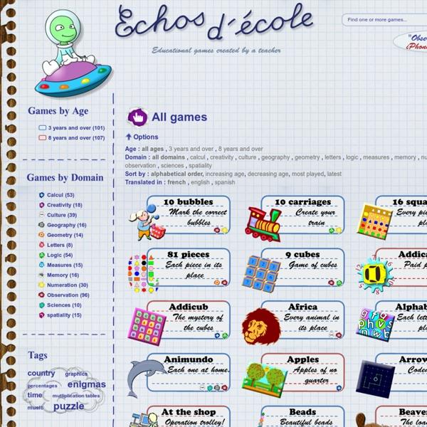 Echos d'école - jeux éducatifs