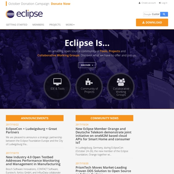 Eclipse - The Eclipse Foundation open source community website.