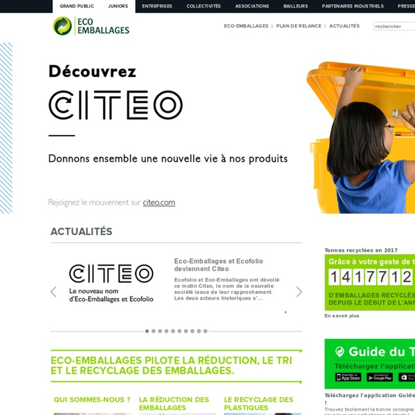 Eco-organisme pour le tri, la collecte et le recyclage des emballages ménagers
