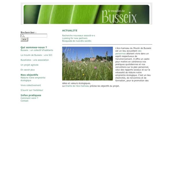 Eco-hameau du moulin de Busseix