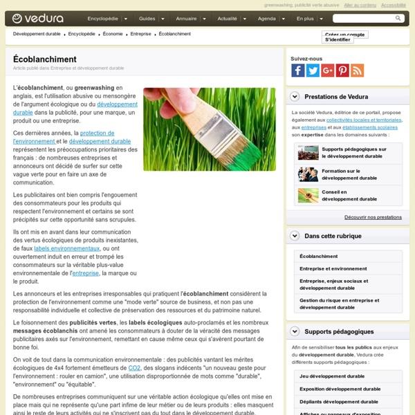 Écoblanchiment, greenwashing, la publicité qui abuse de l'écologie
