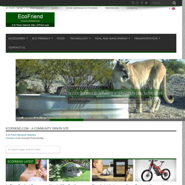 Ecofriend - Promoting eco friendly lifestyle to save the environment