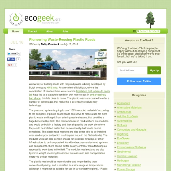 EcoGeek - Brains for the Earth