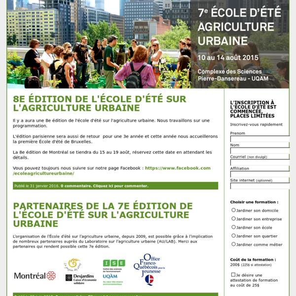 École d'agriculture urbaine - du 15 au 19 août 2011