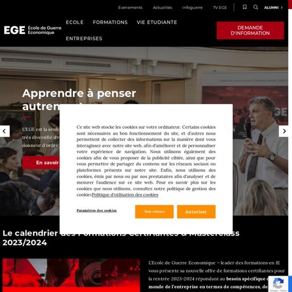Intelligence économique - EGE - Accueil