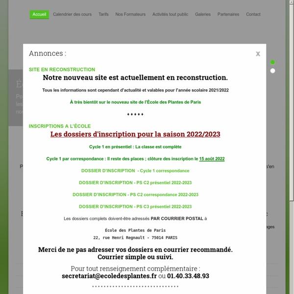 ECOLE DES PLANTES