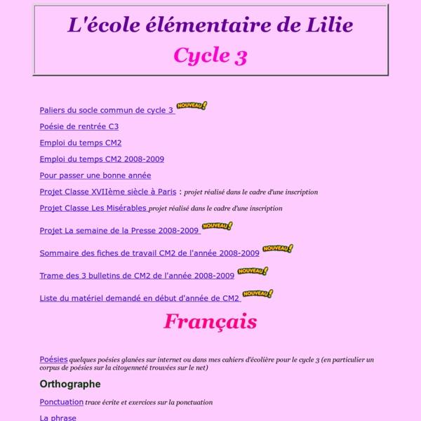 Ecole de Lilie - Elémentaire-Cycle3