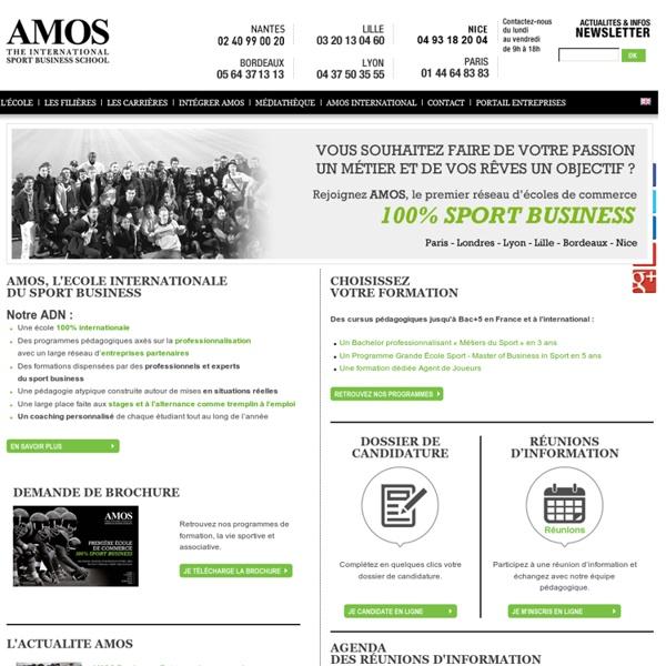 Ecole de management du sport - AMOS l'école du sport Business