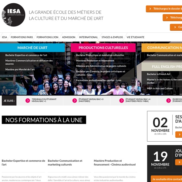 IESA - Ecole Marché de l'art et Métiers de la Culture